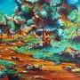 chemin couchant (acrylique - 2007)