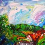 ciel d'échinghen (acrylique - 2009)