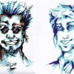 faces (encre + tria - 2009)