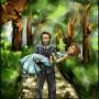julien et lucie (painter 9 - 2008) - commande pour un mariage -