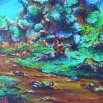 paysage 2 (acrylique sur bois - 2006)