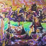 paysage 8 (acrylique sur bois - 2006)