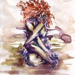 violette (aquarelle + painter 9 - 2009)