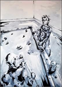 xavier et erik (aquarelle sur bristol - 50x70cm)