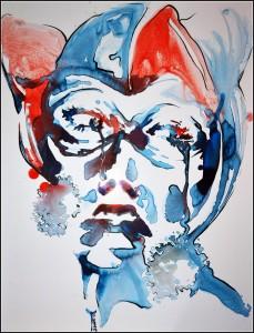 Harleen Quinzel (aquarelle sur carton plume - 50x65 cm)