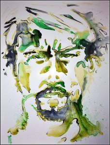 david banner (aquarelle sur carton plume - 50x65 cm)