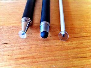 comparaison des pointes avec le Bamboo