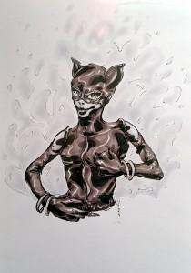 Catwoman - feutres à alcool format A4 - 25€