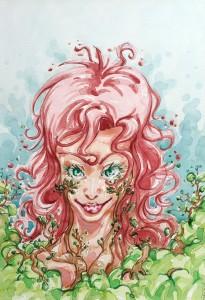 Poison Ivy - aquarelle format A4 - 35€
