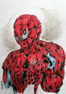 Spider-man portrait - feutres à alcool format A4 - 35€