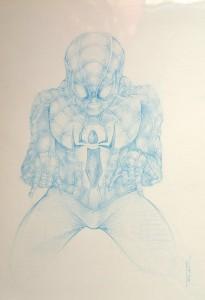 Blue Spider-man - Mine bleu Format A4 - 35€