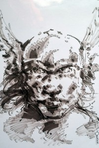 Thor portrait - feutres à alcool format A4 - 20€