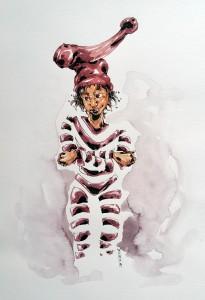 Malin Sourire - aquarelle format A4 - 35€