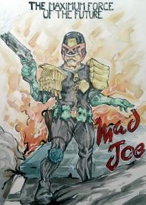 Mad Joe - aquarelle Format A3 - 90€