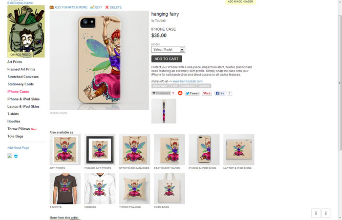 ma galerie sur Society 6