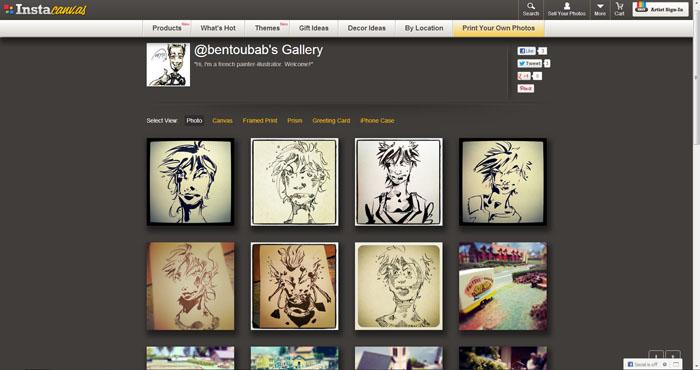 ma galerie sur Instacanvas