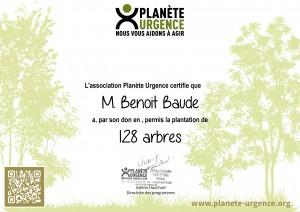 certificat planete urgence