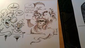 on m'a demandé, ainsi qu'a d'autres dessinateurs, de réaliser un ptit dessin sur le thème des apotres! :)