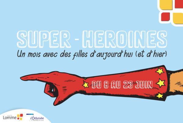 Les super héroïnes à la médiathèque de Lomme