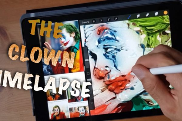 The clown timelapse drawing