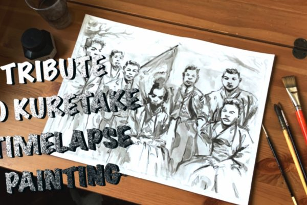 Tribute to Kuretake – timelapse painting