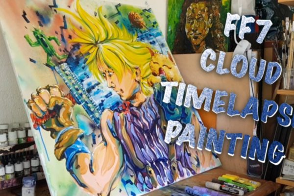 Cloud from FF7 – Timelapse painting